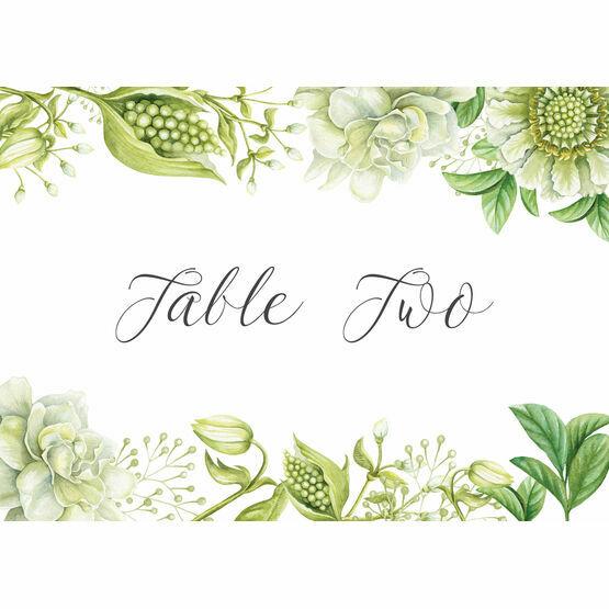 Greenery Table Name
