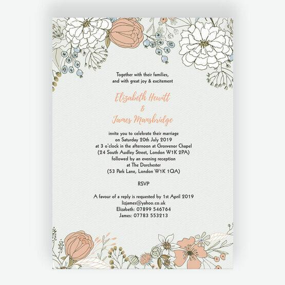 Wild Flowers Wedding Invitation