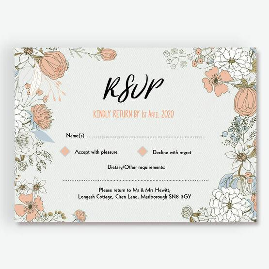 Wild Flowers RSVP