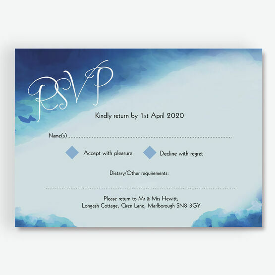 Blue Watercolour RSVP