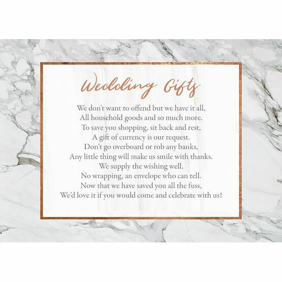 Marble & Copper Gift Wish Card