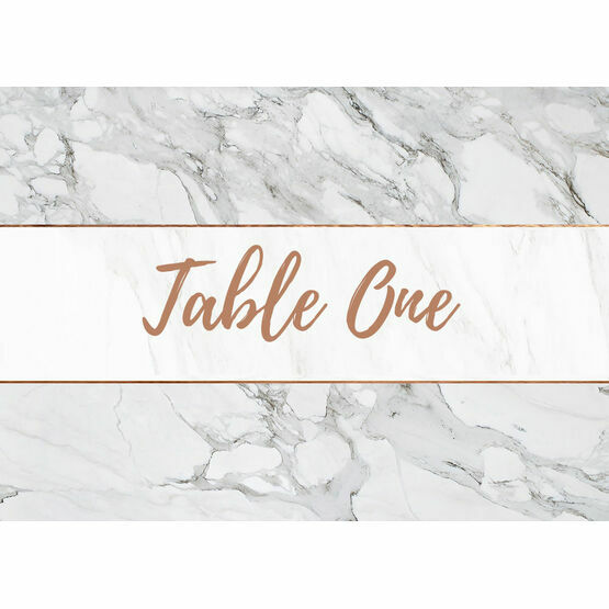 Marble & Copper Table Name