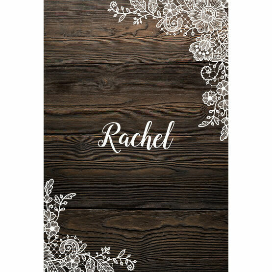 Rustic Wood & Lace Place Cards - Set of 9