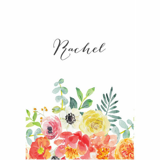 Coral & Blush Flowers Place Cards - Set of 9
