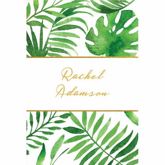 Tropical Leaves Place Cards - Set of 9