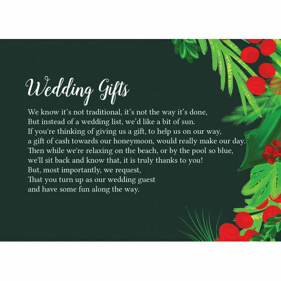 Winter Berries Gift Wish Card