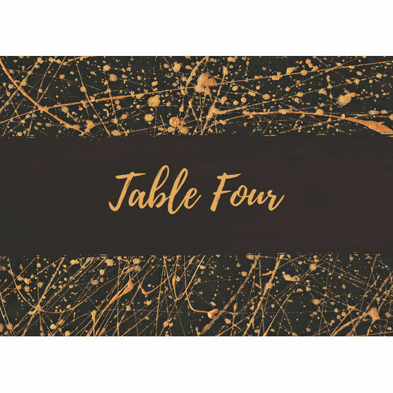 Black & Gold Abstract Table Name