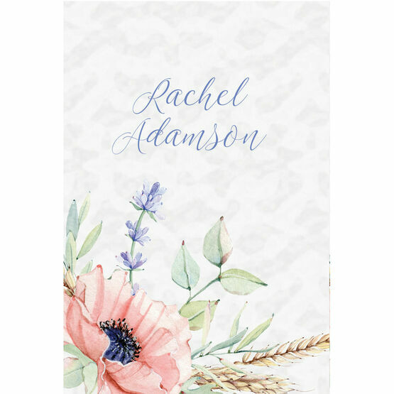 Country Flowers Place Cards - Set of 9
