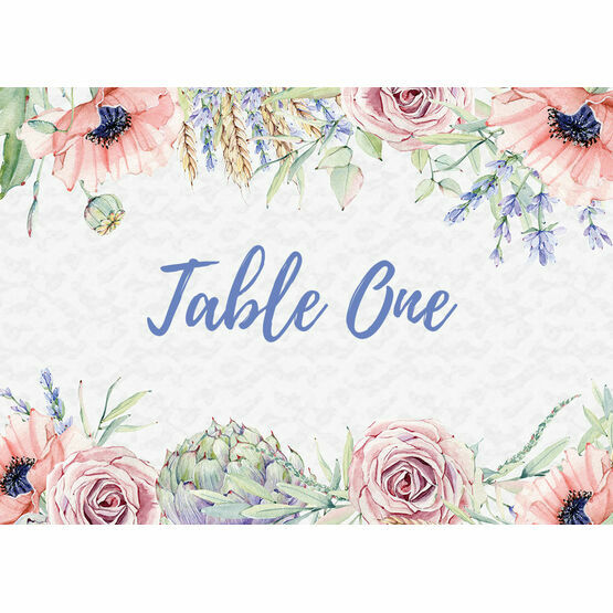 Country Flowers Table Name