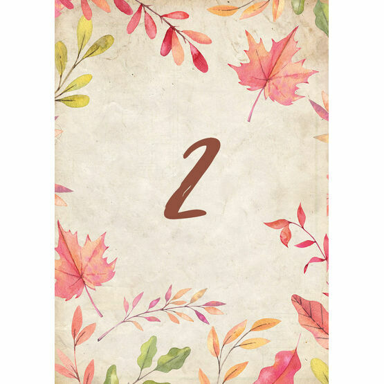 Autumn Leaves Table Number