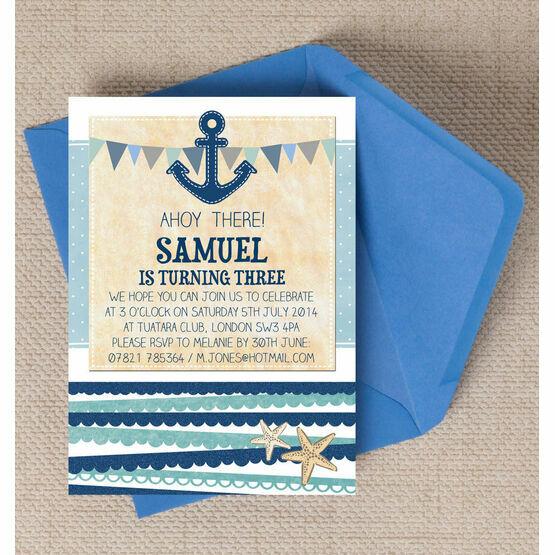 Nautical Party Invitation
