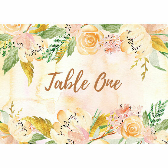 Gold Floral Table Name
