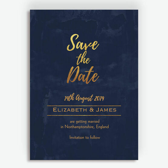 79899df86479f Navy & Gold Save the Date from £0.85 each