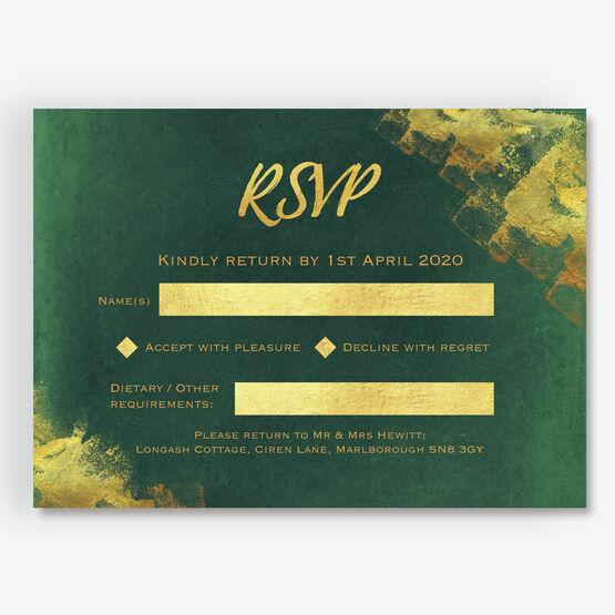 Emerald & Gold RSVP