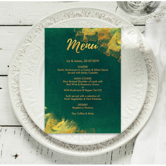 Emerald & Gold Menu