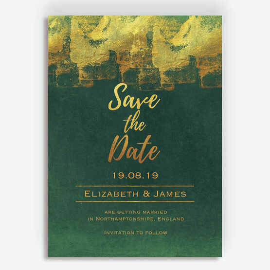 Emerald & Gold Save the Date