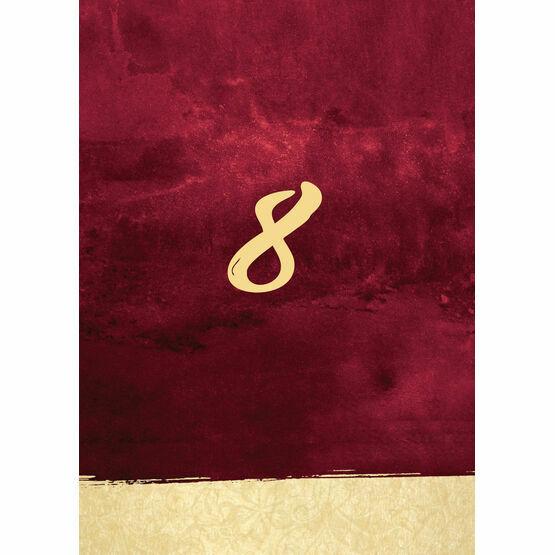 Burgundy & Gold Table Number