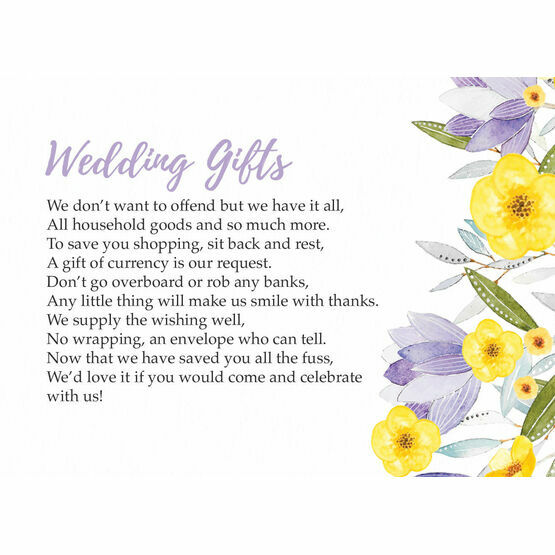 Lilac & Lemon Gift Wish Card