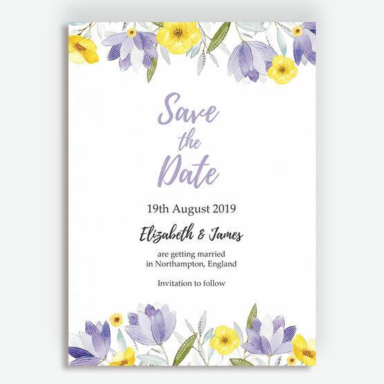 Lilac & Lemon Save the Date