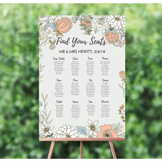 Wild Flowers Wedding Seating Plan