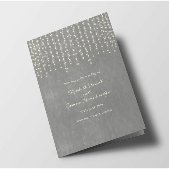 Fairy Lights Wedding Order of Service Booklet