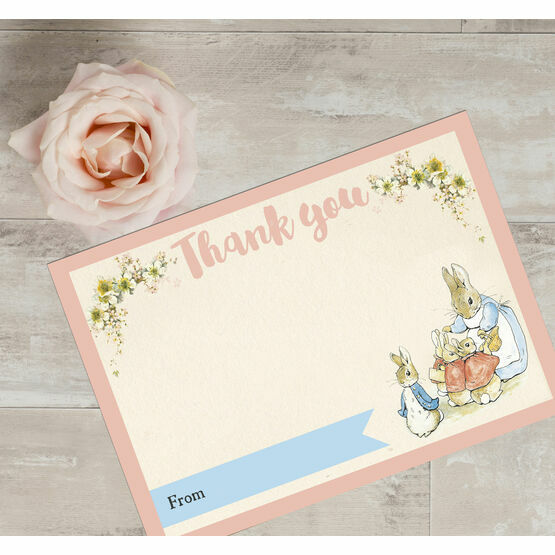 Pack of 10 Beatrix Potter Flopsy Bunnies Thank You Cards (Non-Personalised)