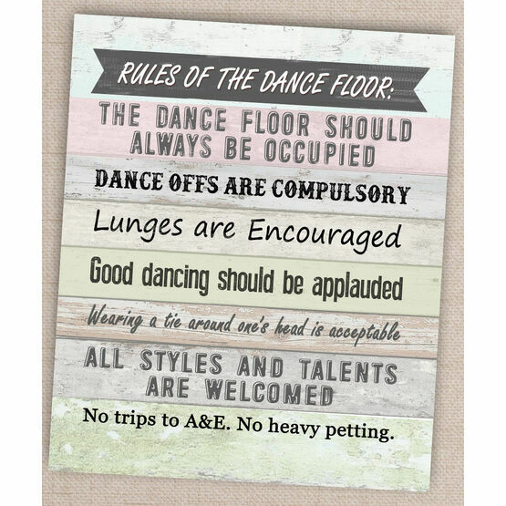 Printable Dance Floor Rules Poster