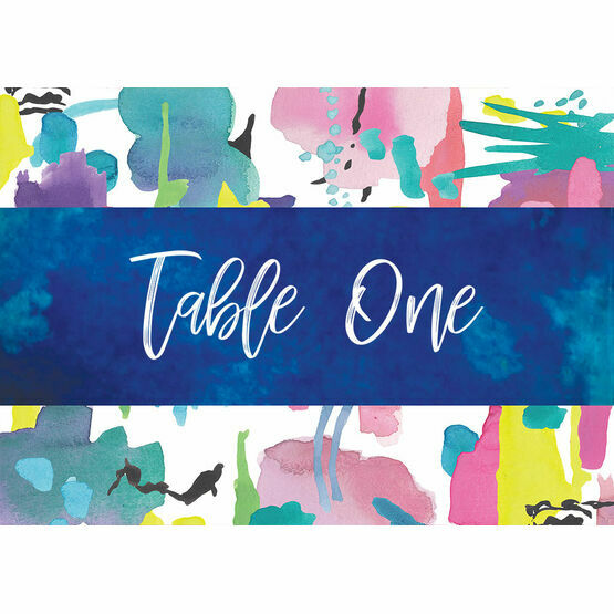 Bright Watercolour Table Name