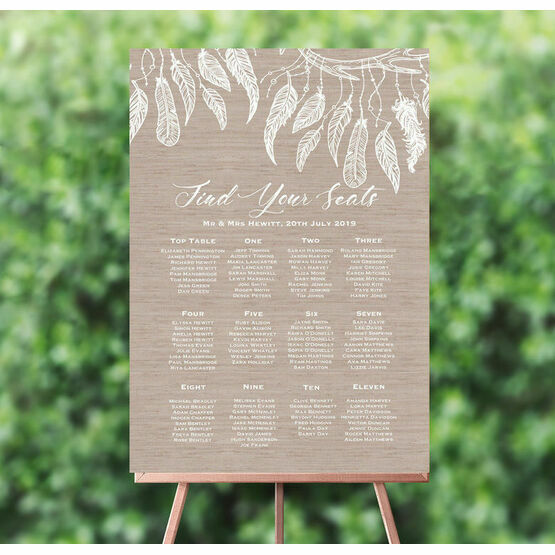 Dream Catcher Wedding Seating Plan