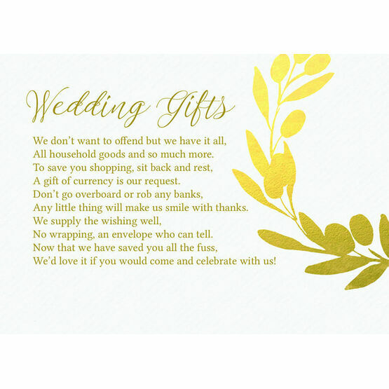 Golden Olive Wreath Gift Wish Card