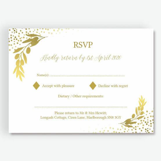 Golden Olive Wreath RSVP