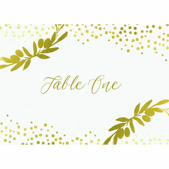 Golden Olive Wreath Table Name