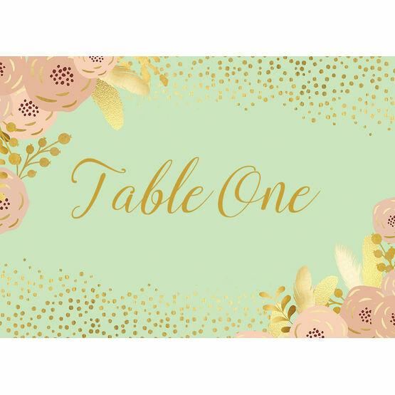 Mint, Blush & Gold Table Name