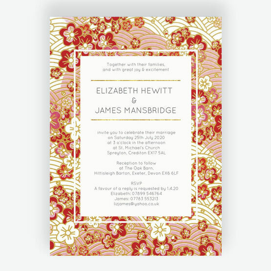Origami Floral Wedding Invitation