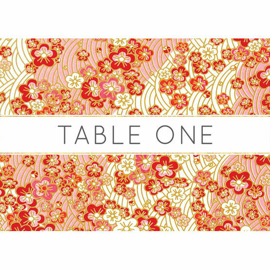 Origami Floral Table Name