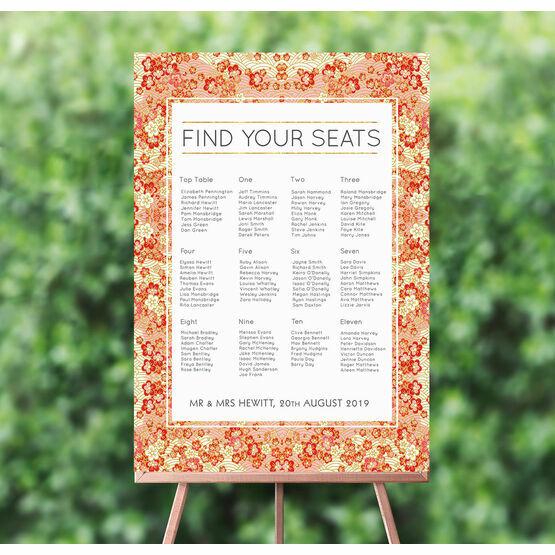 Origami Floral Wedding Seating Plan