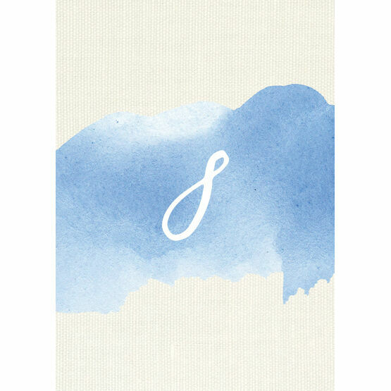Pastel Blue Watercolour Table Number