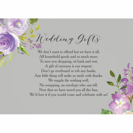 Pastel Lilac Flowers Gift Wish Card