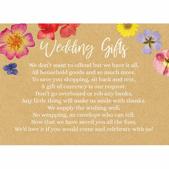 Pressed Flowers Gift Wish Card