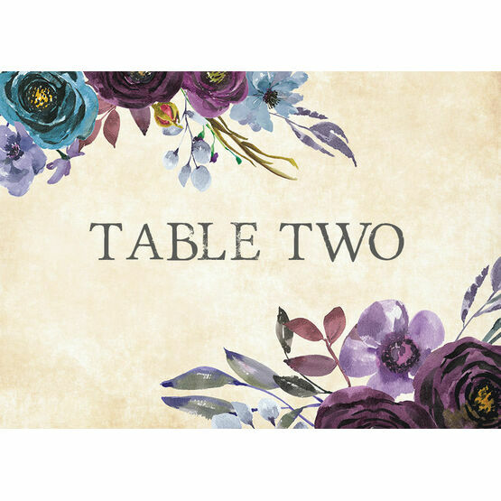 Purple Floral Table Name