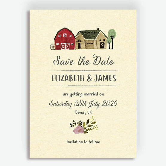 Rustic Farm Wedding Save the Date