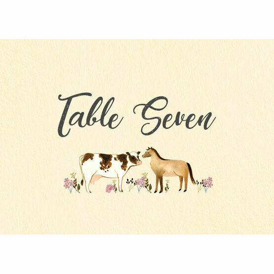 Rustic Farm Table Name