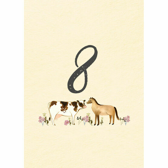 Rustic Farm Table Number