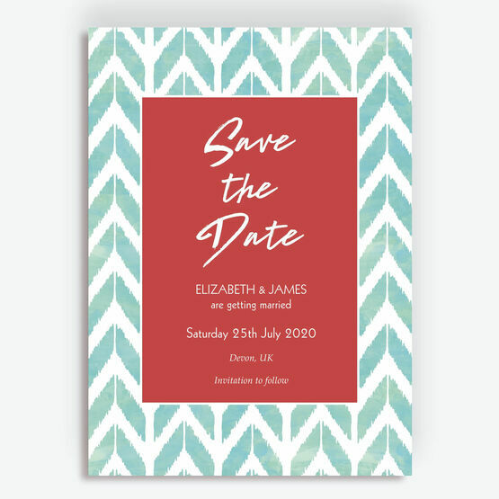 Summer Festival Geometric Wedding Save the Date