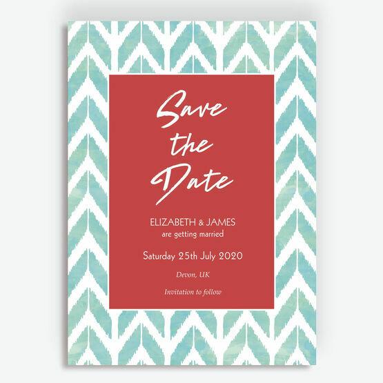 Summer Festival Geometric Wedding Save the Date