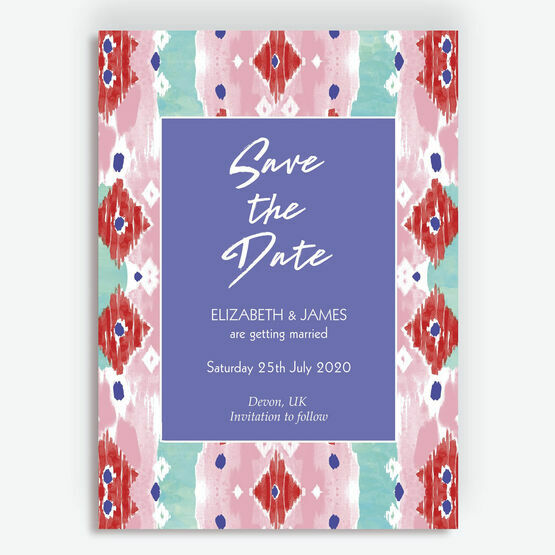 Summer Festival Wedding Save the Date