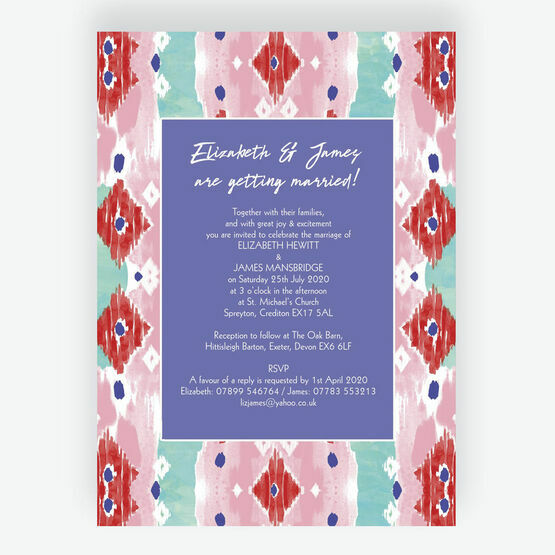 Summer Festival Wedding Invitation