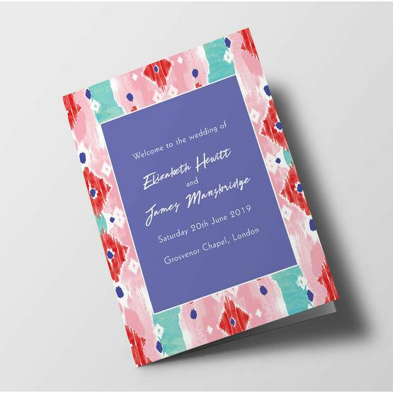 Summer Festival Wedding Order of Service Booklet