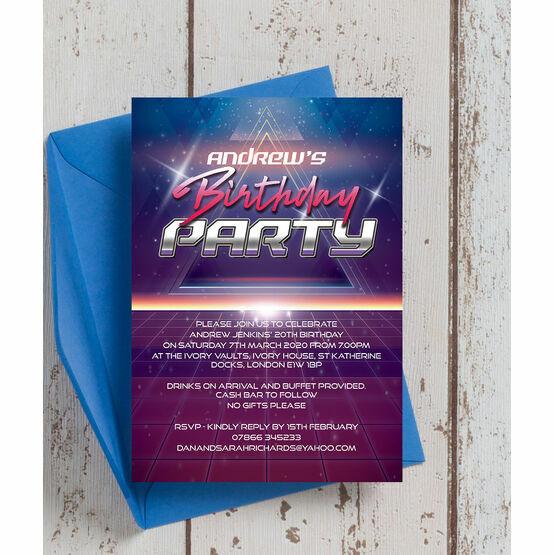 Retro SciFi Birthday Party Invitation