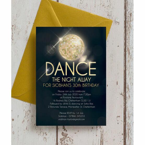 Disco Ball 30th Birthday Party Invitation
